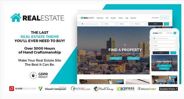 Real Estate 7 - Тема недвижимости WordPress
