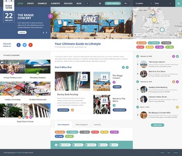 Event Guide – Каталог WordPress Тема + EVENTS PRO плагин