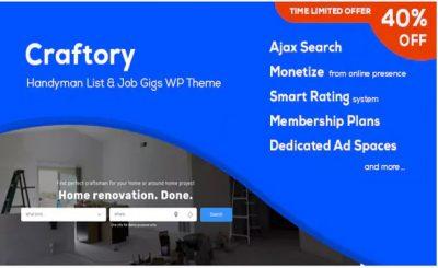 Craftory – Каталог объявлений о работе, биржа фриланс WordPress тема
