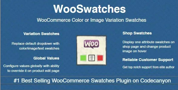 WooSwatches - Образцы вариаций цвета или изображения Woocommerce