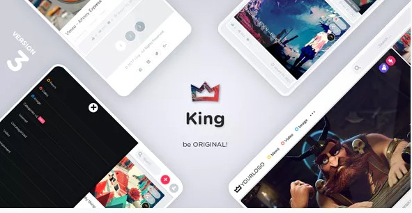 King – WordPress Вирусная тема