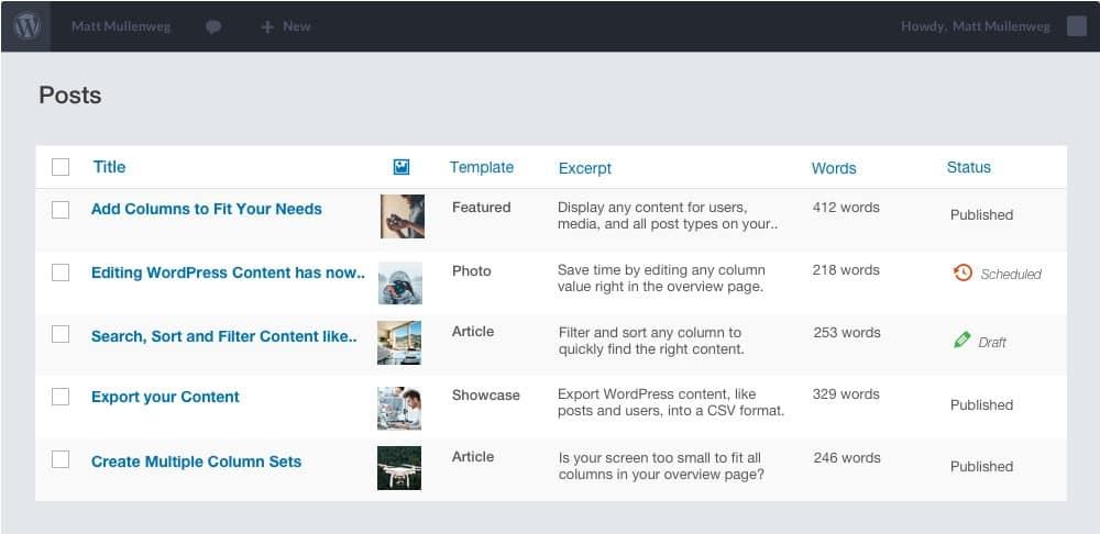 Admin Columns PRO + Add-ons – управление, добавление столбцов в админке