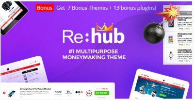 REHub – партнерский маркетинг, магазин нескольких поставщиков, тема сообщества