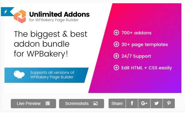 Unlimited Addons для WPBakery Page Builder (Visual Composer)