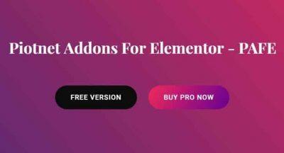 Piotnet Addons For Elementor – PAFE
