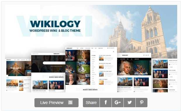 Wikilogy – Wiki & Blog Тема WordPress