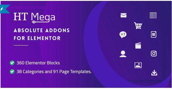 HT Mega Pro – Абсолютные дополнения для Elementor Page Builder