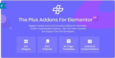 The Plus – Аддон для Elementor Page Builder Плагин WordPress