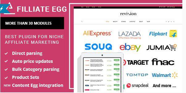 Пак плагинов Affiliate Egg + Content Egg - Всё в одном для партнёрских сайтов