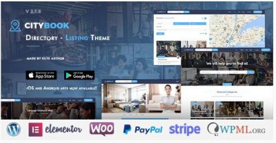 CityBook – Каталог и Объявления WordPress Theme