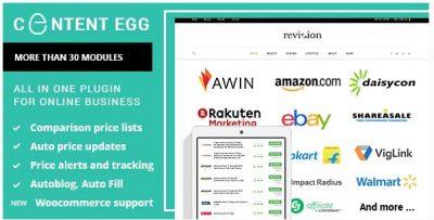Пак плагинов Affiliate Egg + Content Egg – Всё в одном для партнёрских сайтов