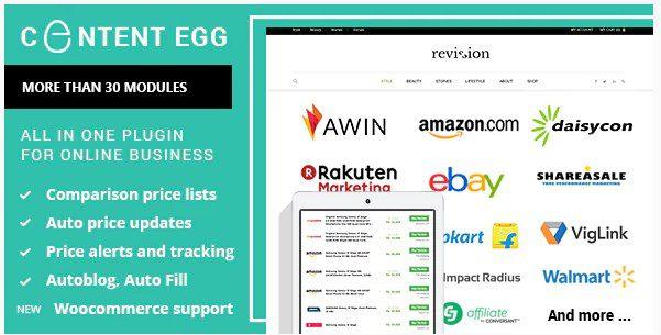 Пак из 2х плагинов Affiliate Egg + Content Egg – Всё в одном для партнёрских сайтов