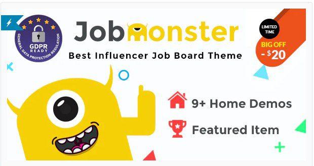Jobmonster - Доска объявлений вакансий WordPress тема