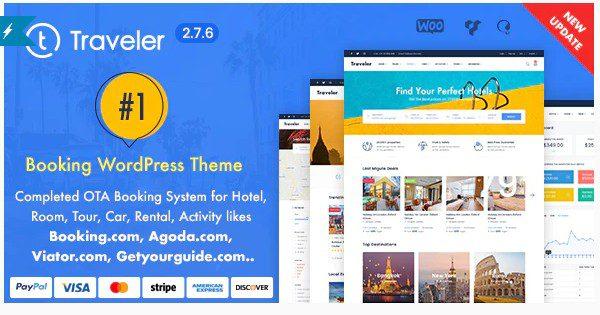 Traveler - Travel Booking WordPress Theme - тема Бронирование тура