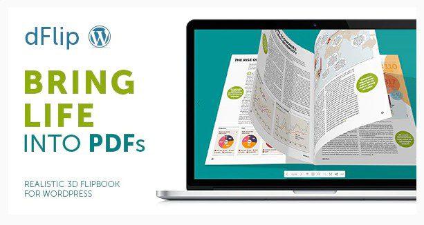 dFlip PDF FlipBook – Плагин Книги с эффектом перелистывания страниц.