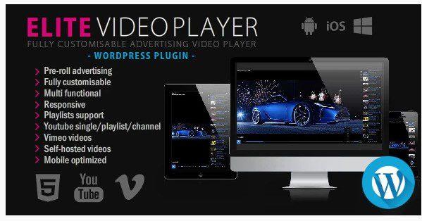 Elite Video Player – WordPress плагин