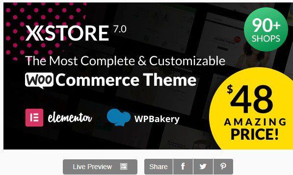 XStore - Адаптивная WooCommerce Тема