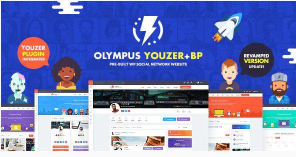 Olympus - мощная тема BuddyPress