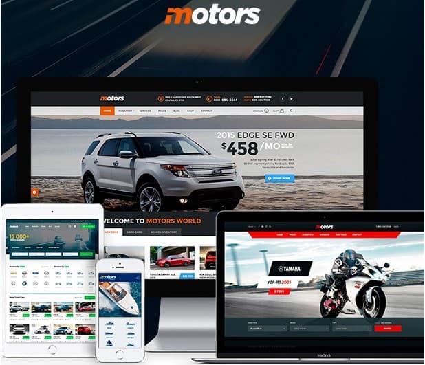 Motors - Автосалон, Аренда и Объявления Тема WordPress