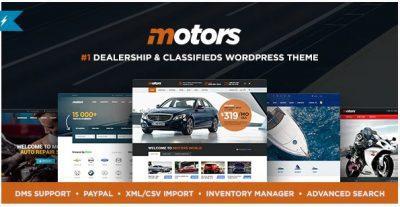 Motors – Автосалон, Аренда и Объявления Тема WordPress