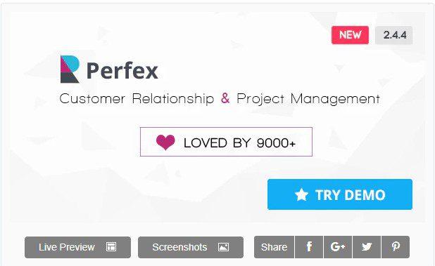 Perfex CRM – Мощная crm и erp система