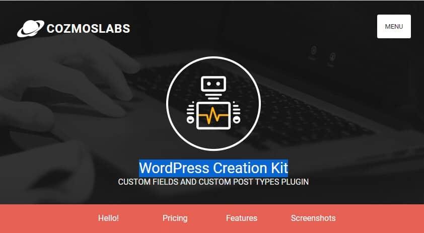 WordPress Creation Kit – Пользовательские Таксономии, Поля, Посты.