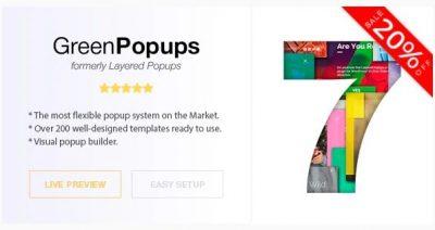 Green Popups (бывший Layered Popups) – Премиум плагин Всплывающих Окон