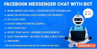 Facebook Messenger Chat with Bot – Мессенджер + Бот
