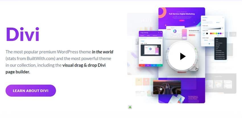 Divi Pack - Тема + PSD Файлы + Divi Builder плагин + Divi Bloom плагин форм и интеграции автореспондеров
