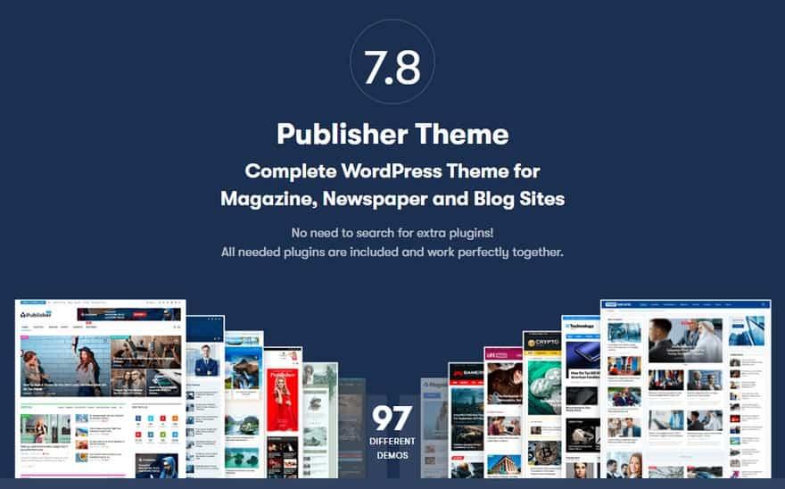 Publisher Newspaper Magazine AMP – Многопрофильная тема