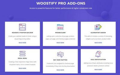 WOOSTIFY PRO ADD-ON – Премиум расширения для темы Woostify