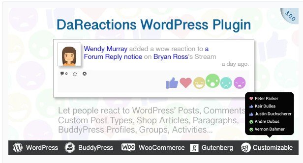 Reactions WordPress Plugin - Плагин Реакций на Пост