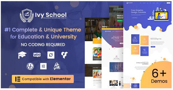 IvyPrep | Education & School (Ivy School) WordPress тема