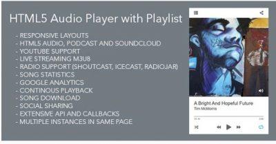 Modern Audio Player WordPress Plugin – Лучший Aудио плеер с поддержкой Google Drive