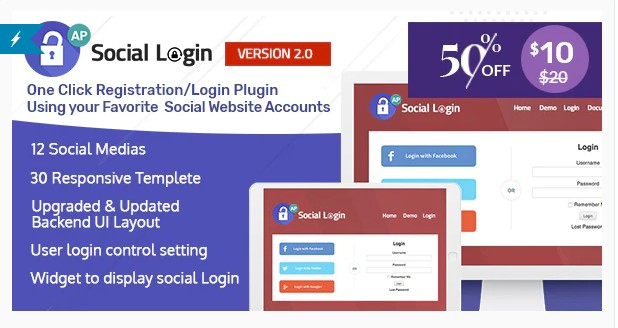Social Login WordPress Plugin - AccessPress Social Login - Вход на сайт через Соц-сети.