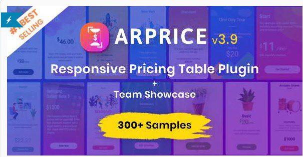 ARPrice - плагин таблиц цен WordPress