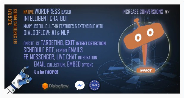 ChatBot for WordPress PRO - ЧатБот для WordPress + Conversational Forms for ChatBot (конструктор форм для чата)