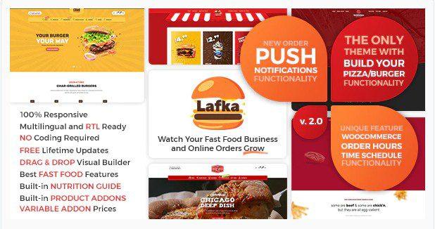 Lafka - WooCommerce Theme for Burger - Pizza & Food Delivery - Тема для доставки пиццы и еды