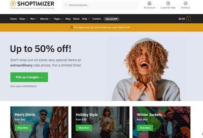 Shoptimizer  – одна из самых быстрых тем WooCommerce