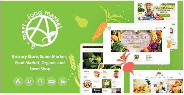 A-Mart v1.0.1 - тема WordPress для магазина органических продуктов