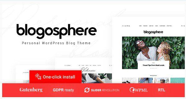 Blogosphere v1.0.7 - Тема многоцелевого блога