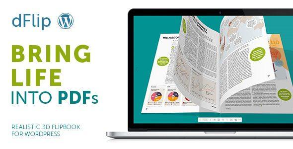 dFlip v1.75.1 - PDF FlipBook WordPress Plugin NULLED - плагин книги с перелистыванием страниц
