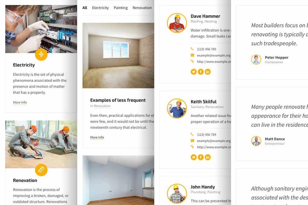 BlueCollar - WordPress тема для бизнеса по ремонту