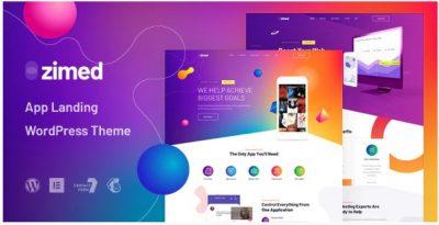 Zimed – App Landing WordPress Theme – Тема Лендинг