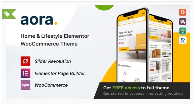 Aora v1.0.9 - Home & Lifestyle Elementor WooCommerce Theme