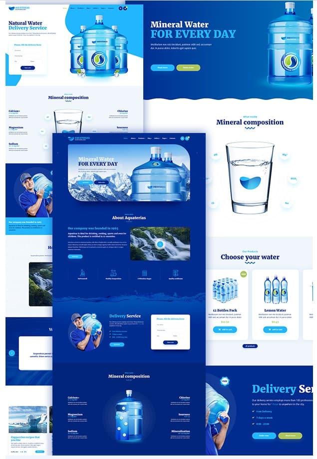 Aquaterias - Bottled Drinking Water Delivery WordPress Theme - тема WordPress для доставки питьевой воды