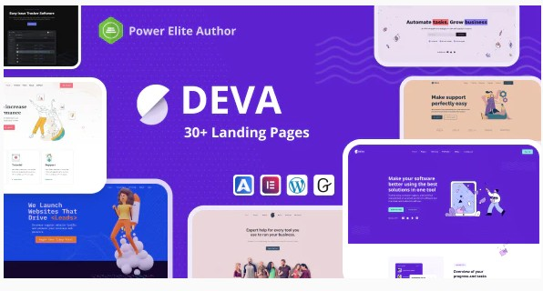 Deva v1.0.5 - 30+ Landing Pages