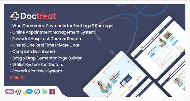 Doctreat v1.3.6 - Doctors Directory WordPress Theme