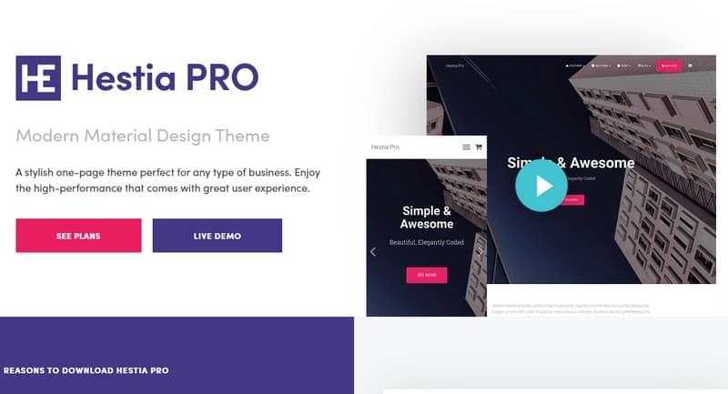Hestia Pro v3.0.16 - Sharp Material Design Theme For Startups