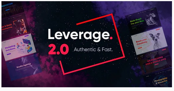 Leverage v2.0.8 - Creative Agency & Portfolio WordPress Theme